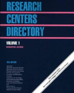 Research Centers Directory (Paperback)