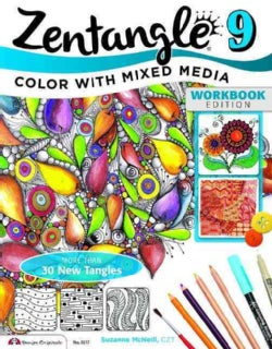 Zentangle 9: Color With Mixed Media (Paperback)