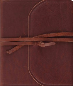 Holy Bible: English Standard Version, Natural Brown Leather, Flap With Strap, Journaling Bible (Paperback)