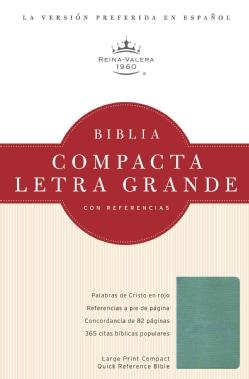 Santa Biblia / Holy Bible: Reina-Valera 1960, Turquesa / Turquoise, Simulacion Piel / Simulated Leather, Con Refe... (Paperback)