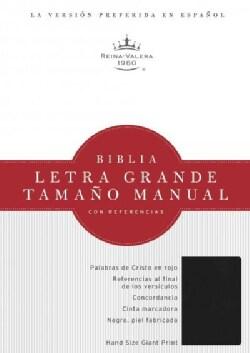 La Santa Biblia / Holy Bible: Reina-Valera 1960, negro, imitacion piel, Biblia letra grande tamano manual con ref... (Paperback)