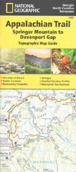 National Geographic Appalachian Trail: Springer Mountain to Davenport Gap: Topographic Map Guide (Sheet map, folded)