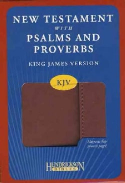 New Testament With Psalms and Proverbs: King James Version New Testament With Psalms and Proverbs, Espresso Flexi... (Paperback)