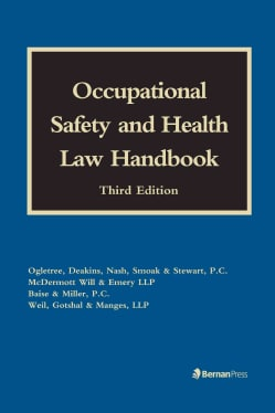 Occupational Safety and Health Law Handbook (Hardcover)
