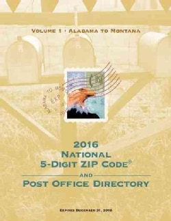 National 5-Digit Zip Code and Post Office Directory 2016 (Paperback)