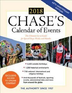 Chase's Calendar of Events 2018: The Ultimate Go-to Guide for Special Days, Weeks and Months (Paperback)