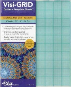 "Visi-Grid Quilter's Template Sheets: Easy to See, Mark & Cut - Non-Glare - 4 Sheets - 8 1/2"" X 11"" - 1/8"" Grid (Paperback)"