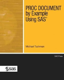 Proc Document by Example Using SAS (Paperback)
