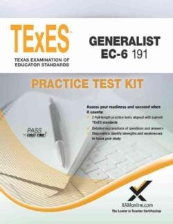 TExES Generalist EC-6 191 Practice Test Kit (Paperback)
