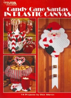 Candy Cane Santas in Plastic Canvas (Paperback)
