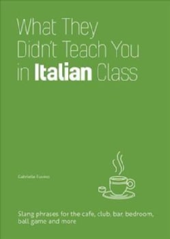 What They Didn't Teach You in Italian Class: Slang Phrases for the Cafe, Club, Bar, Bedroom, Ball Game and More (Hardcover)