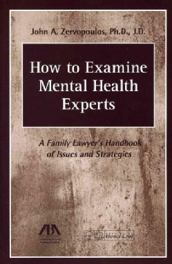 How to Examine Mental Health Experts: A Family Lawyer's Handbook of Issues and Strategies (Paperback)