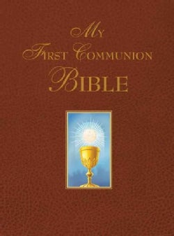 My First Communion Bible, Burgundy (Hardcover)