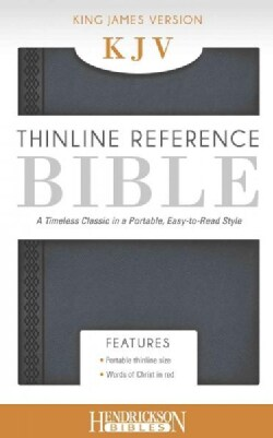 The Holy Bible: King James Version, Steel Gray Thinline Reference Bible (Paperback)