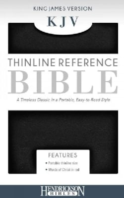 The Holy Bible: King James Version, End of Verse Reference Edition, Black, Imitation Leather, Thinline Bible, Wor... (Paperback)