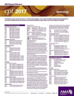 CPT 2017 Express Reference Coding Card Gynecology (Cards)