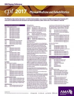 CPT 2017 Express Reference Coding Card Physical Medicine and Rehabilitation (Cards)