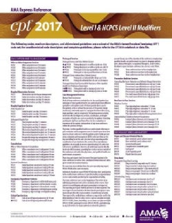 CPT Level I & HCPCS Level II Modifiers AMA Express Reference 2017 (Cards)