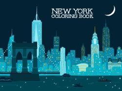 New York Coloring Book (Paperback)
