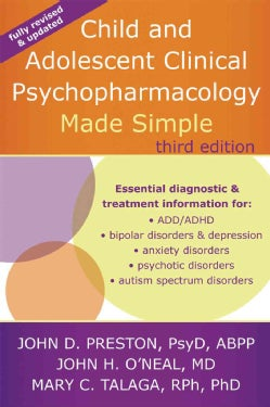Child and Adolescent Clinical Psychopharmacology Made Simple (Paperback)