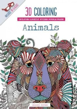 3D Coloring Animals (Paperback)