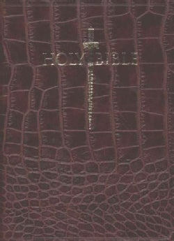 Holy Bible: King James Version Easy Read, Alligator / Walnut, Bonded Leather, Sword Study Bible, Personal Size (Paperback)