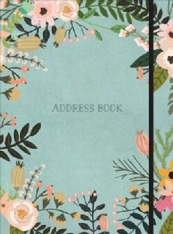 Modern Floral Large Address Book (Address book)