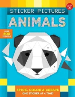 Animals: Stick, Color & Create One Sticker at a Time! (Paperback)