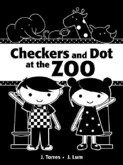 Checkers and Dot at the Zoo (Board book)