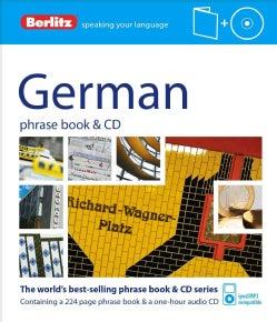 Berlitz German Phrase Book + Cd