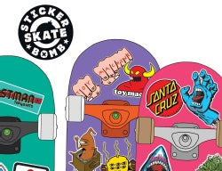 Stickerbomb Skate: 150 Classic Skateboard Stickers (Paperback)