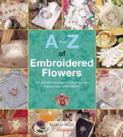 A-Z of Embroidered Flowers (Paperback)