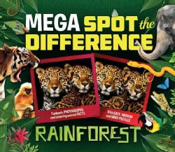 Mega Spot the Difference: Rainforest (Paperback)