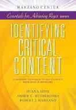 Identifying Critical Content: Classroom Techniques to Help Students Know What Is Important (Paperback)