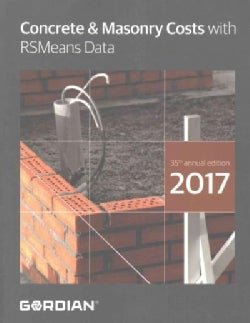 Concrete & Masonry Costs With RSMeans Data 2017 (Paperback)