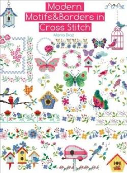 Modern Motifs & Borders in Cross Stitch (Paperback)