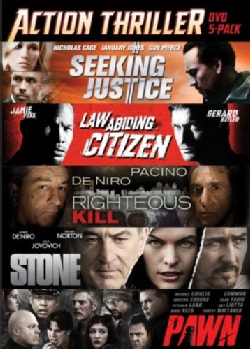 Seeking Justice/Law Abiding Citizen/Righteous Kill/Stone/Pawn (DVD)