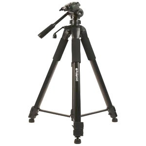 """Polaroid 72"""" Silver Deluxe Tripod/ Carrying Case/ Additional Quick Release Plate"""