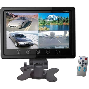 "Pyle 7"" Quad TFT/LCD Video Monitor W/Headrest Shroud, BNC/RCA Connectors(Black)"