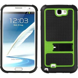 INSTEN Green Phone Case Cover with Stand for Samsung Galaxy Note II/ 2 N7100