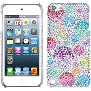 Insten Colorful Rainbow Bubbles Hard Snap-on Diamond Bling Case Cover For Apple iPod Touch 5th/ 6th Gen