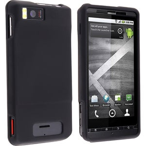 INSTEN Black Rubber-Coated Plastic Phone Case Cover for Motorola Droid Xtreme MB810/ Droid X2 Daytona