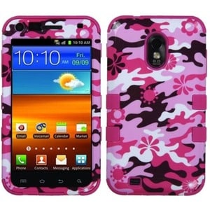 Insten Pink Flower Camo/ Hot Pink Tuff Phone Case Cover f...