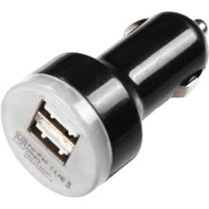 INSTEN Black Universal Dual USB Car Charger Adapter