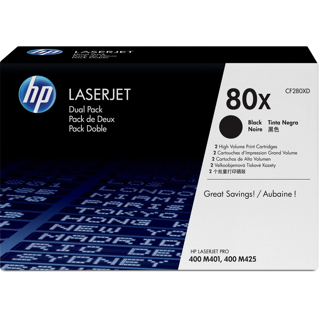 HP 80X Dual-pack Toner Cartridge - Black