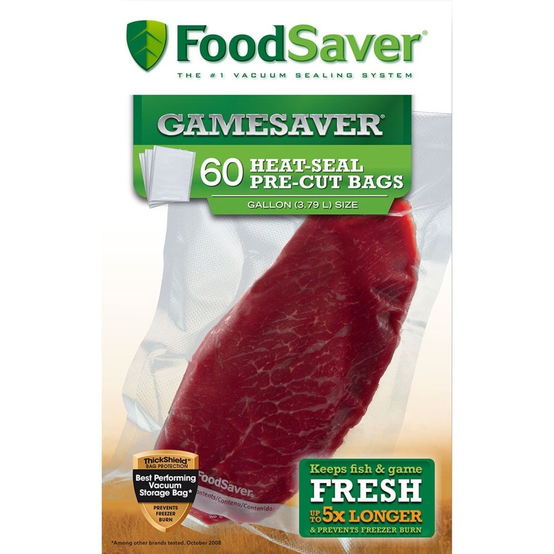 "FoodSaver GameSaver 11""x14"" Gallon Vacuum-Seal Bags, 60 Count - Thumbnail 0"