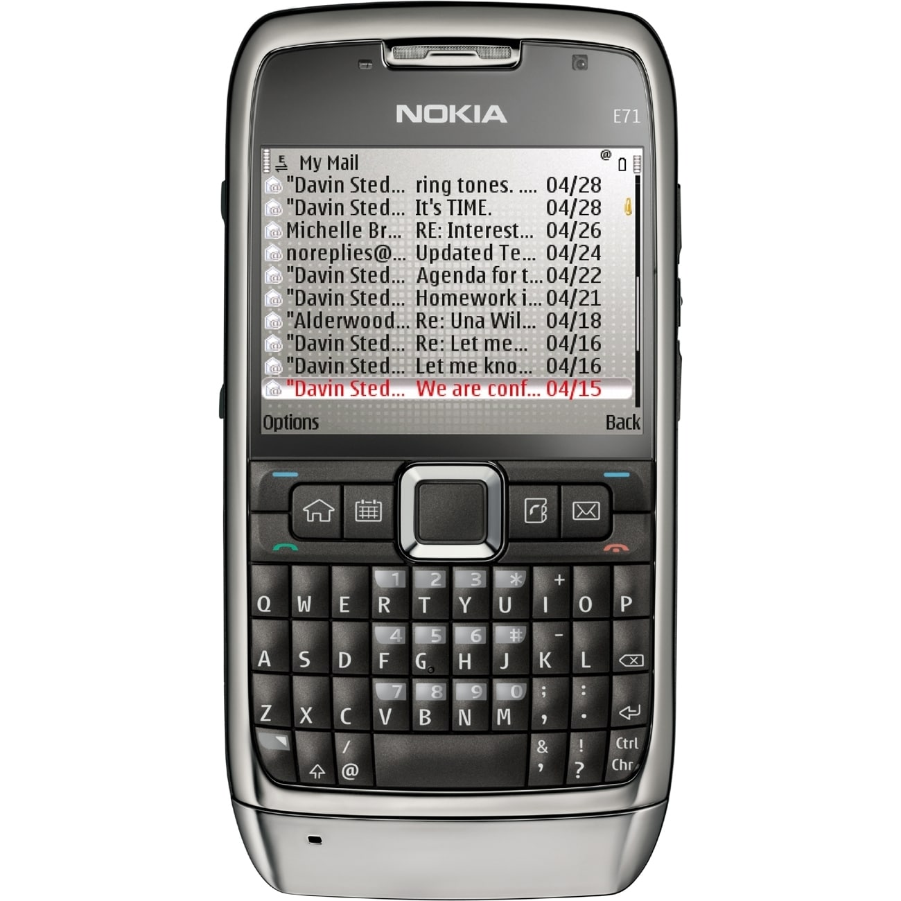 Nokia E71 Smartphone - Wireless LAN - 3G - Bar - Steel Gray