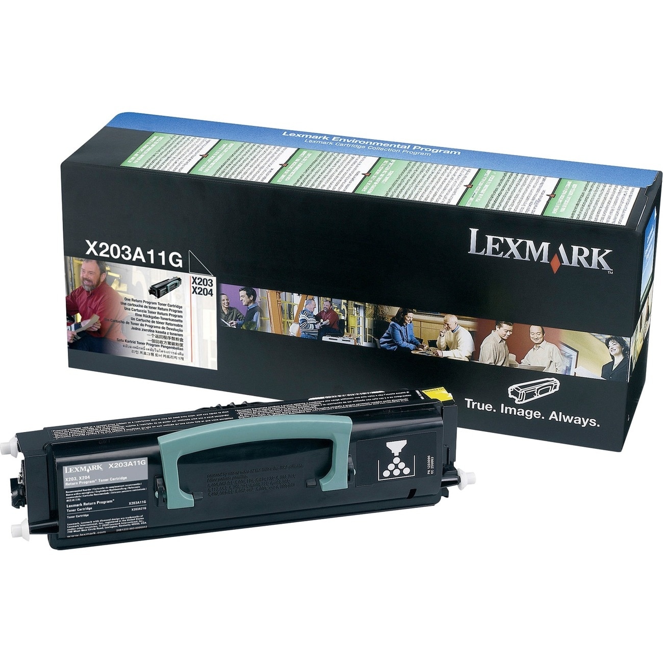 Lexmark Black Return Program Toner Cartridge (Pack of 1)