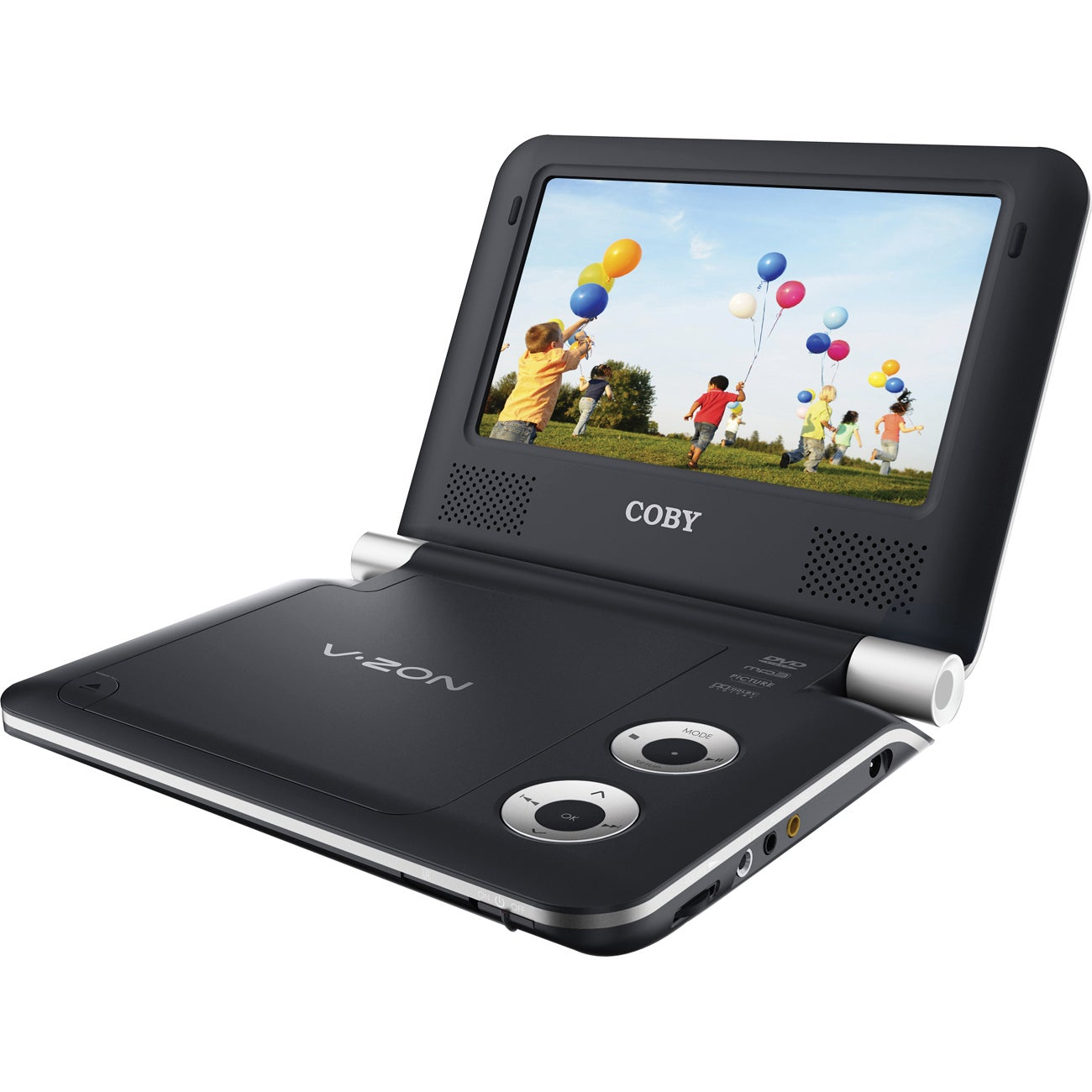 "Coby TFDVD7009 Portable DVD Player - 7"" Display"