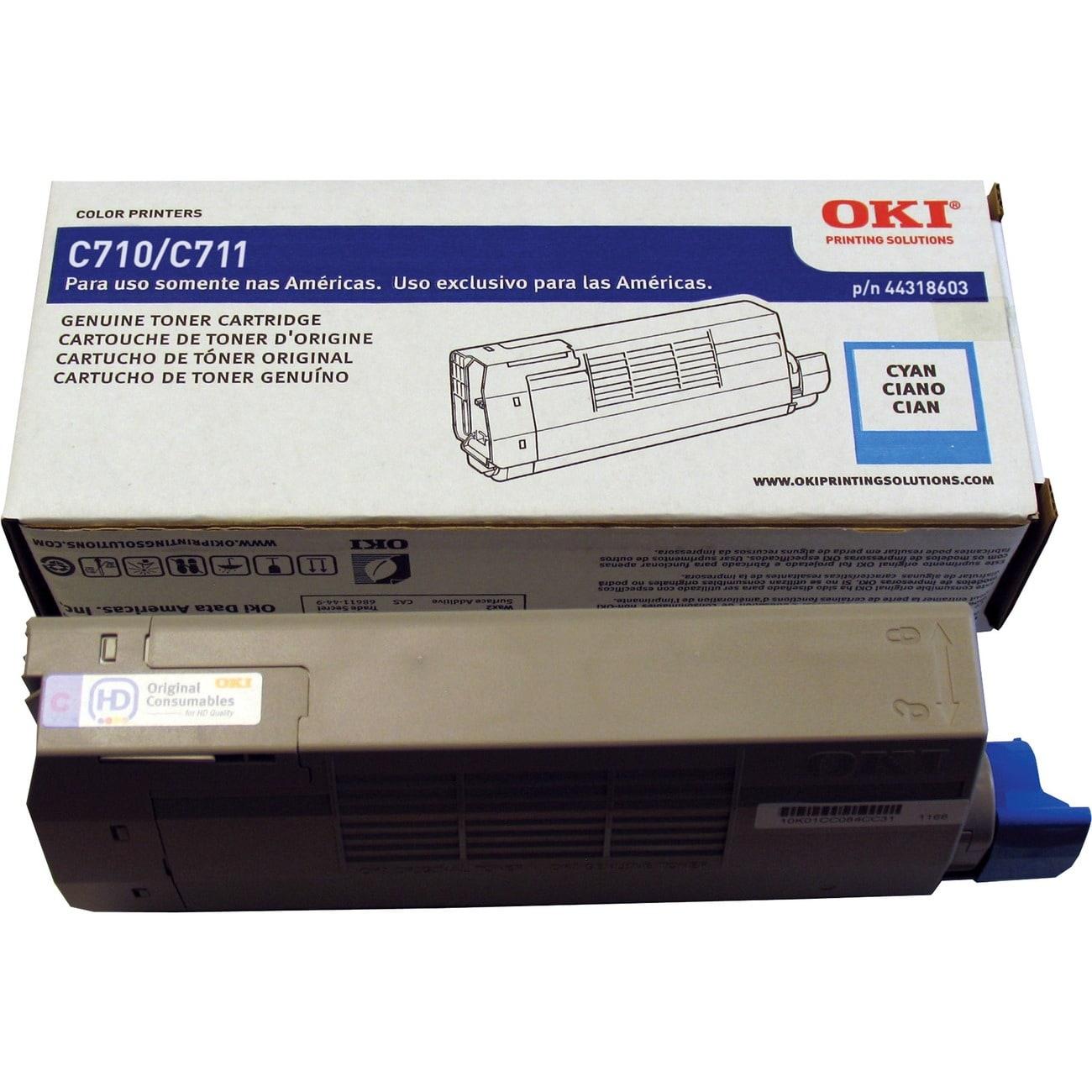 Oki 44318603 Toner Cartridge - Cyan